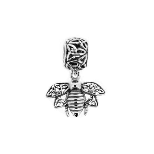 Outlander Inspired Highland Bee Silver Bead Charm